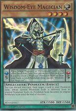 3X YU-GI-OH CARD: WISDOM-EYE MAGICIAN - SUPER RARE - PEVO-EN017 - 1ST EDITION