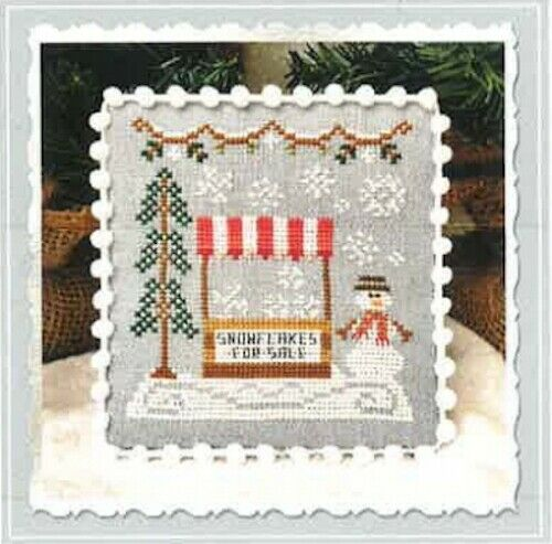 Snow Village 10/%Off CCN Counted X-stitch chart Snowflake Stand
