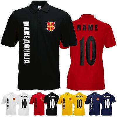 WM 2018 Mazedonien МАКЕДОНИЈА Polo-Shirt Trikot Name Nummer