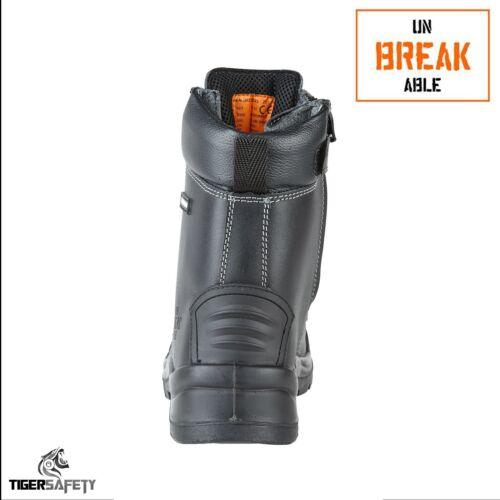 Incassable trench-Master 8105 S3 Fermeture Éclair Imperméable Acier Bouts Bottes de sécurité