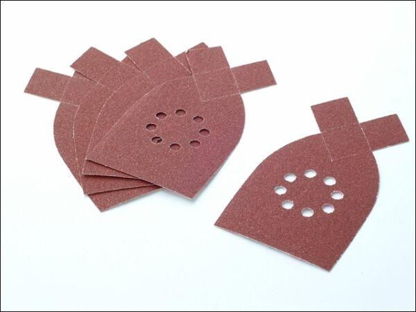 Black /& Decker 125mm sanding discs for random orbit /& multisander velcro hook an