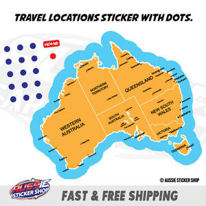 image is loading map australia travel location sticker aussie car flag