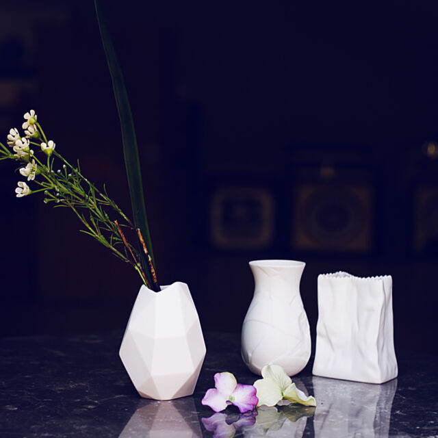 Small White Porcelain Vase Table Top Matte Ceramic Vase Flower Vase Decoration