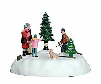 Lemax Christmas.Lemax Christmas Village Animated Pine Hill Tree Farm 64062 For Sale Online Ebay