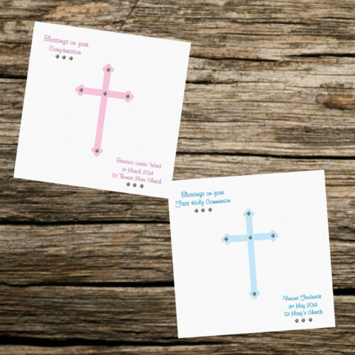 Personalised Card Christening Naming Day Confirmation First Holy Communion