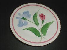Blue Ridge Candlewick DUTCH IRIS Blue Pink Flower Red Trim Saucer (loc-sau26)