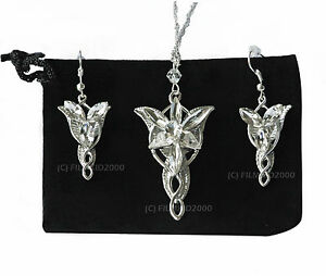 Lotr lord of the rings hobbit arwen evenstar necklace pendant silver image is loading lotr lord of the rings hobbit arwen evenstar aloadofball Images