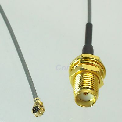 SMA female nut bulkhead to IPX U.FL female 1.13 cable pigtail 20cm