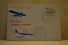 ALLEMAGNE CARTE AVIATION 31/08/1969 FLUGPLATZ HANGELAR