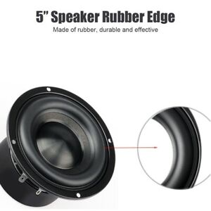 """High Quality 5/"""" 5inch 125mm Speaker Surround Repair Rubber Edge Replacement *"""