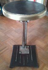 ANTIQUE VINTAGE BRASS INDUSTRIAL FOLDING ELEVATOR SEAT STOOL CIRCA 1930s
