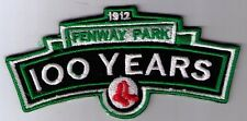 1912 - 2012 BOSTON RED SOX FENWAY PARK 100TH YEARS LOGO PATCH IRON ON OR SEW ON