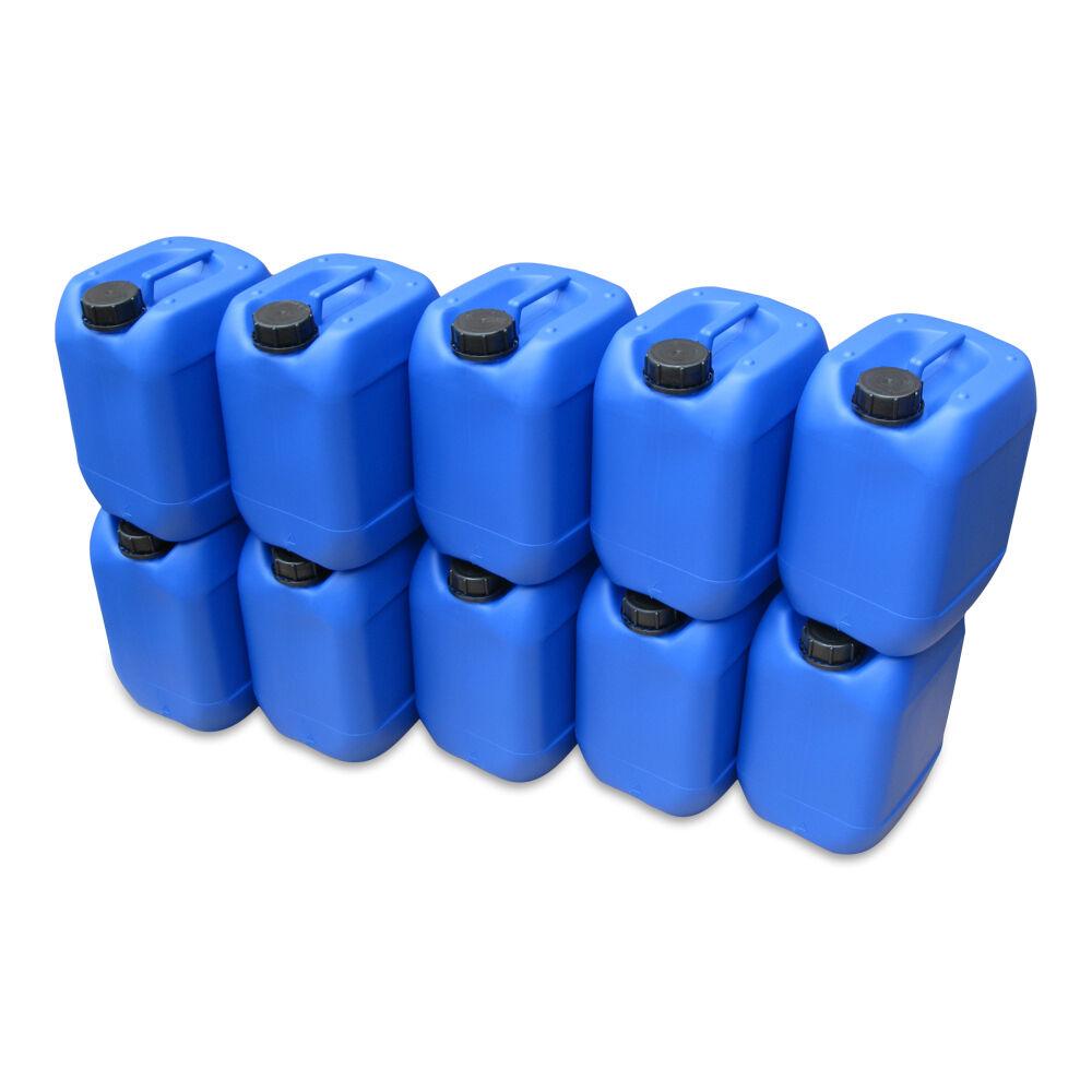 2 Stück 10 Liter Kanister blau Camping Plastekanister Wasserkanister NEU DIN51.