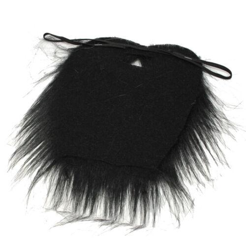 Black Facial Hair Beard Fake Moustache Halloween Costume Fancy Dress Party C TEW