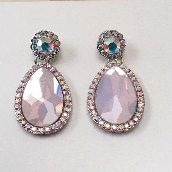BUTLER E WILSON PICCOLO TRASPARENTE pink opale LIKE LACRIMA dropl