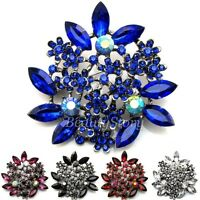ADD'L Item FREE Shipping - Austrian Rhinestone Crystal Bouquet Flower Brooch Pin