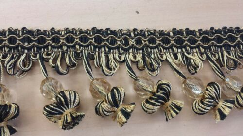 "1 56 + 5 23 yards of CONSO 2 12"" Tassel Beaded Fringe trim drapery craft"