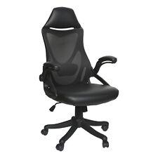 Ergonomic Gaming Office Chair Computer Adjustable High Back Seat Mesh Pu Black