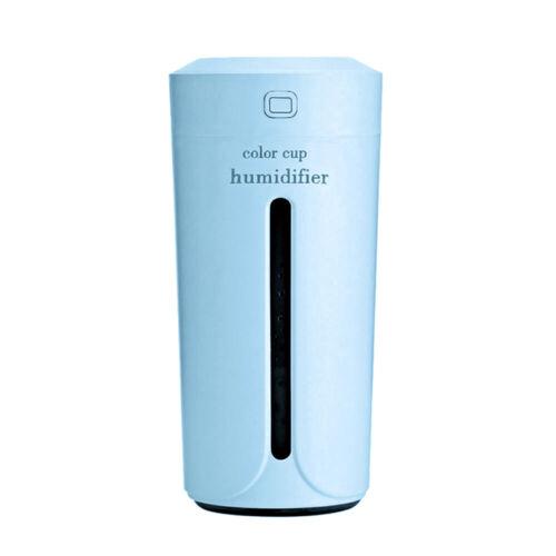 Portable LED USB Mini Cup Humidifier Car Home Air Purifier Aroma Diffuser 230ML
