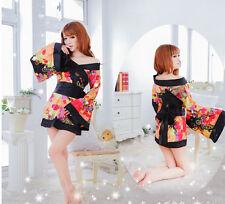 Charming Japanese kimono party costume cosplay fancy dress UK SZ 8-10 Valentine