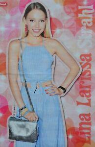 LINA-LARISSA-STRAHL-A3-Poster-42-x-28-cm-EGO-Clippings-Fan-Sammlung-NEU