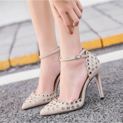 Confortevole Beige Like Stiletto Court Shoes 11 Leather Elegant Heel Woman Strap wwvZ0qp1