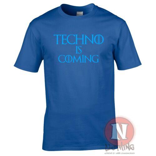 Techno is coming t-shirt Club dance rave music house edm  festival Teeshirt