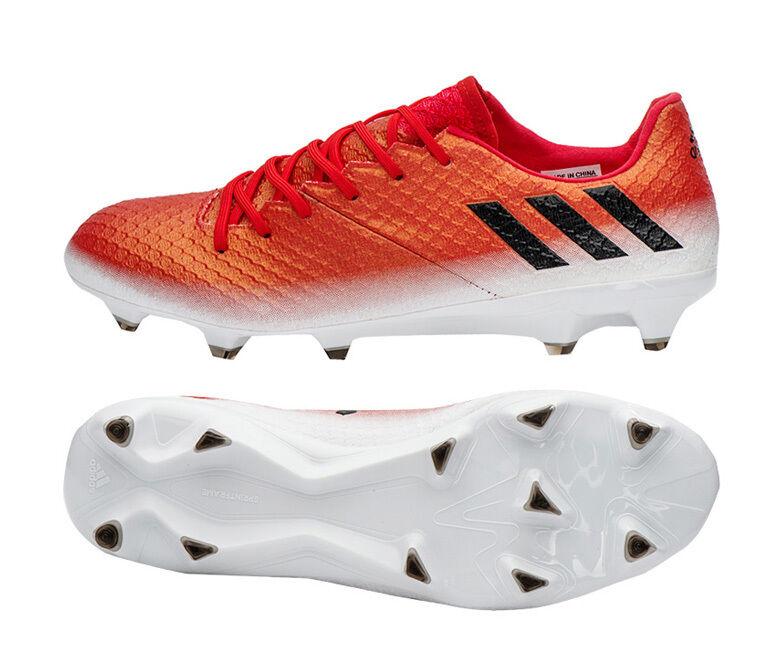 Adidas Messi 16.1 FG botas Zapatos Botines de fútbol de BB1878 Rojo límite
