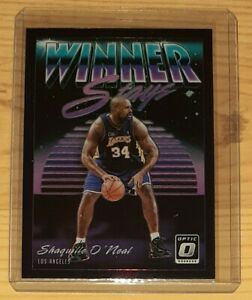 SHAQUILLE-O-039-NEAL-2018-19-Donruss-Optic-Winner-Stays-Purple-Prizm