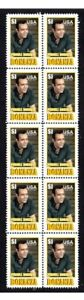 BONANZA-TV-STAR-PURNELL-ROBERTS-STRIP-OF-10-MINT-VIGNETTE-STAMPS-6