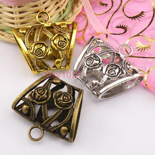 1Pc Tibetan Silver,Gold,Bronze Charms Connectors Scarves Pendants Bail M1280
