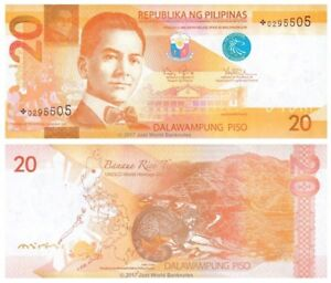 Philippines-20-Piso-2010-Star-Replacement-P-206-Banknotes-UNC