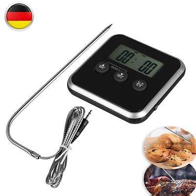Digital Fleisch Braten Kochen Küchenthermometer Kabel 0-250°C Bratofen Backofen