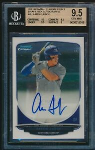 BGS-9-5-AUTO-10-AARON-JUDGE-2013-Bowman-Chrome-Draft-Autograph-AJ-RC-GEM-MINT