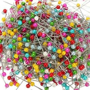 800pcs Round Pearl Head Dressmaking Pins Weddings Corsage Florists Sewing Pin UK