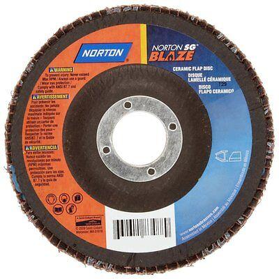 "10 new NORTON SG Blaze R980 7/"" x 7//8/"" Ceramic Flap Discs 40-Grit T27 Fiber 83495"