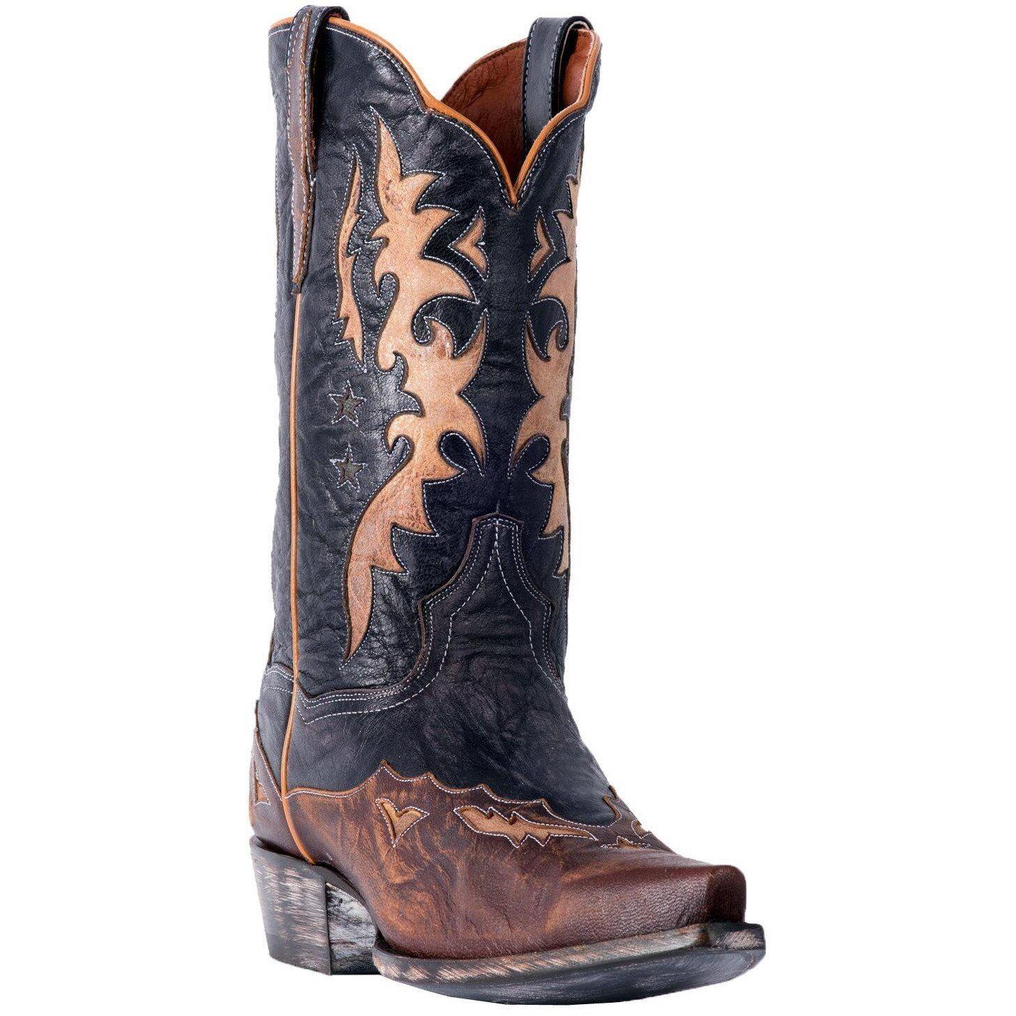 Dan Post Kellen DP2565 Men's Marronee Rustic Leather Cowboy stivali