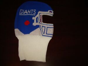 9f65adbecfe vintage 80s NWT NEW YORK GIANTS HELMET SKI MASK WINTER HAT BEANIE ...