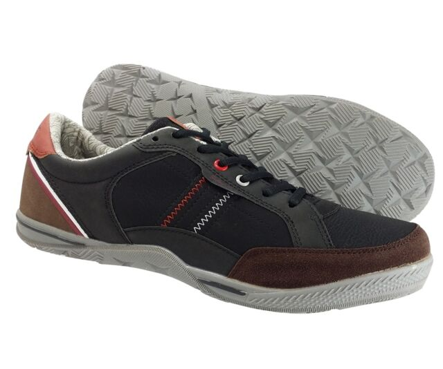 Sedagatti Men's Sneakers Casual lace up Black Brown Fashion Shoes