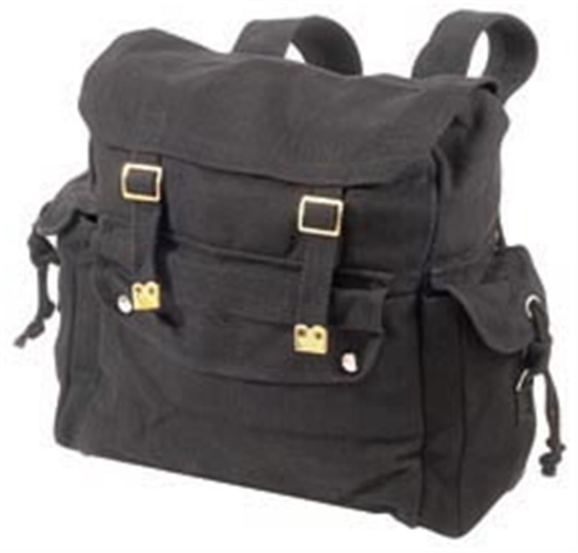 WP4 Large Canvas Web Backpack Black Khaki Tote Web Jute Bag Fishing Day School