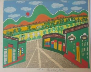 Serigraph by Benito Ortiz. Untitled. Original signed by the artist. Cuban Art