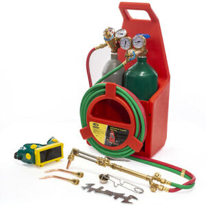 Details about Professional Tote Oxygen Acetylene Oxy Welding Cutting Torch  Kit with tank