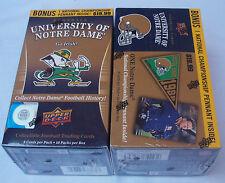 UPPER Deck 2013 CALCIO Università di Notre Dame lotto di 2 TRADING CARD BOX NUOVO