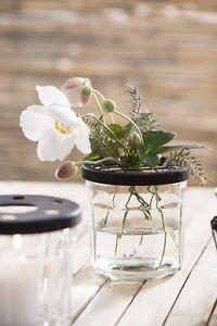 Ib-Laursen-Deckel-mit-Netz-Schwarz-f-Glaeser-D10cm-Blumenvase-Blumen-Glas-Metall