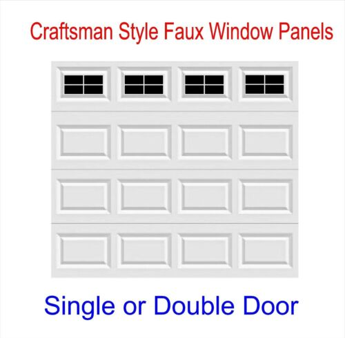 Craftsman Style Vinyl Garage Door Decal Kit Faux Windows Only