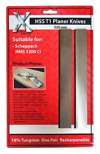 320 mm x 18 x 3 mm Scheppach Planer Blade Knives ONE PAIR 320183
