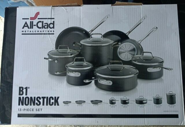 All-Clad 13-Piece B1 Nonstick Hard Anodized Cookware Set - GallyHo