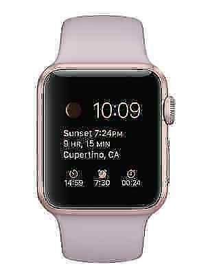 Apple Watch Sport 38mm Aluminium Rose Gold Case Lavender Sport Band Smart Watch Mlch2ll A For Sale Online Ebay