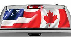Truck Rear Window Decal Graphic American Pride Canada Xin - Rear window decals for trucks canada