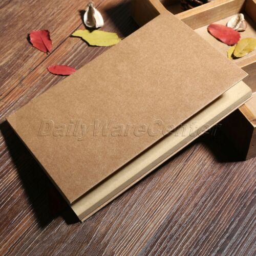 32K Kraft//White Paper Blank Sketchbook Journal Diary Sketching Notebook Retro